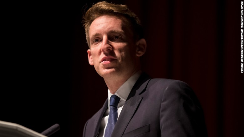 KANSAS CITY, MO - NOVEMBER 09: Jason Kander, Democratic candidate for U.S. Senate in Missouri, delivers his concession speech to supporters at Uptown Theater on November 9, 2016 in Kansas City, Missouri.