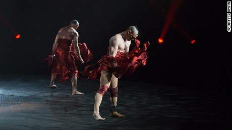 "Andrew Montgomery is the first amputee to perform in the show ""Le Rêve - The Dream"" in Las Vegas."