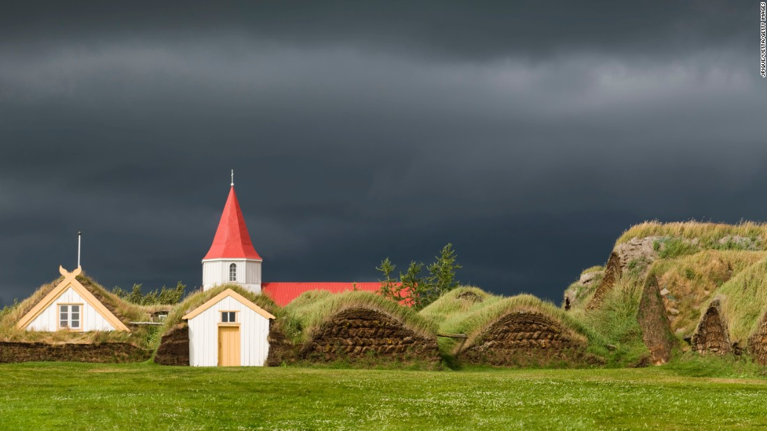 An example of the traditional turf architecture found in Iceland. Expert Hannes Lárusson believes the style can influence modern green architecture.