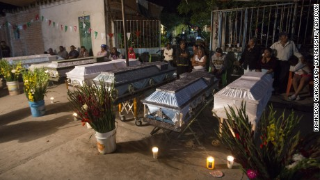 After Mexico earthquake, a baptism becomes a funeral
