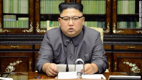 Photo of North Korean leader Kim Jong Un taken from the front page of the state paper Rodong Sinmun on Friday September 22.