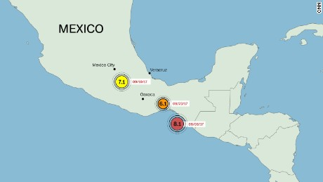 Mexico has had three earthquakes greater than 6.0 magnitude since September 8.