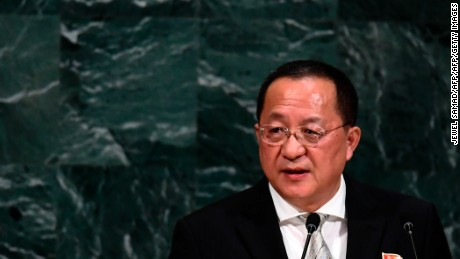 North Korea foreign minister: Trump has 'lit the wick' of war
