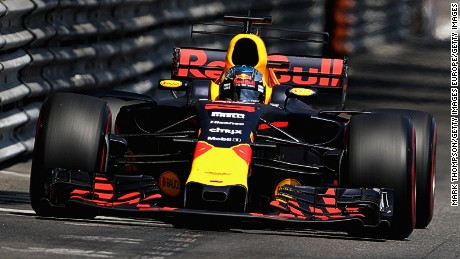 Aston Martin's wings logo has adorned the nose of Red Bull F1 cars since 2016.