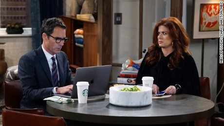 "Eric McCormack and Debra Messing star in ""Will & Grace,"" a sitcom about a gay man and his best friend."