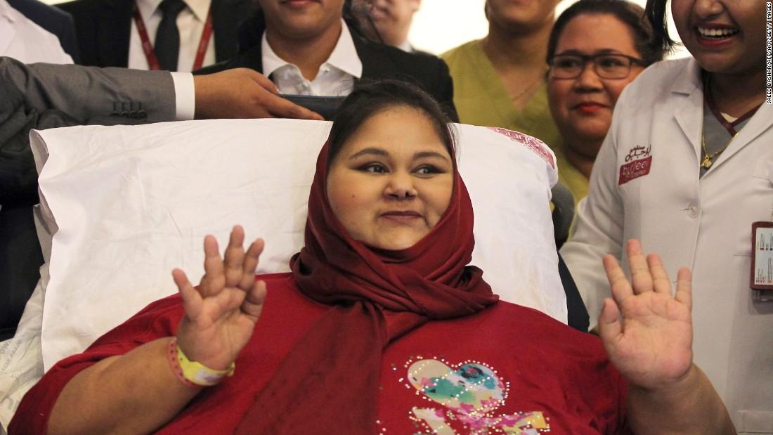 'World's heaviest woman' dies
