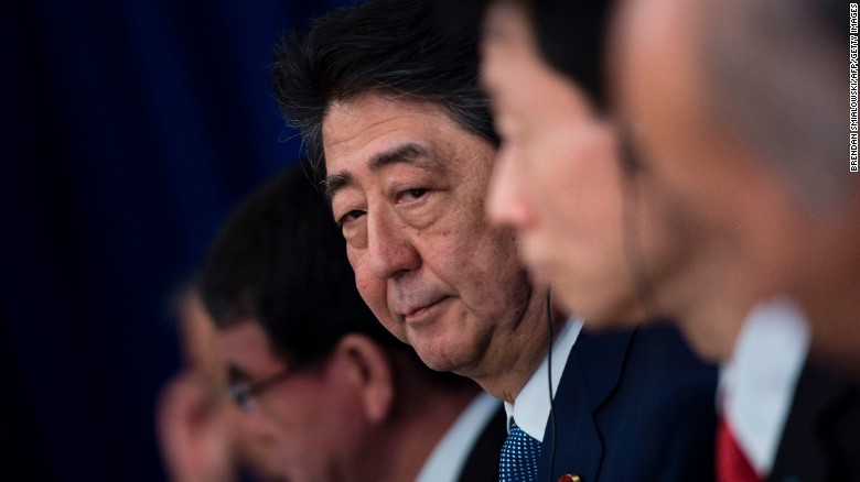 Shinzo Abe: Missile launch 'most grave threat'