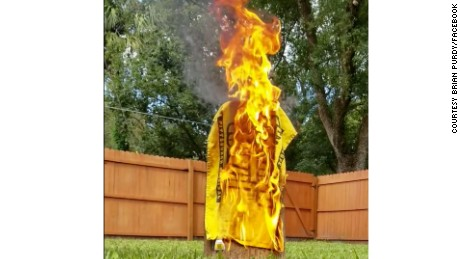 Some Pittsburgh Steelers fans reacted by burning their memorabilia after the team chose not to take the field during Sunday's game.