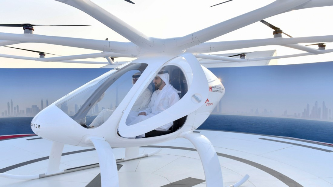 The drone taxi is being tested in collaboration with Dubai's Road and Transport Association (RTA). They hope that within the next five years the flying taxi service will have taken off and be a feature in the skies of Dubai.