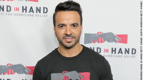 UNIVERSAL CITY, CA - SEPTEMBER 12:  In this handout photo provided by Hand in Hand, Luis Fonsi attends Hand in Hand: A Benefit for Hurricane Relief at Universal Studios AMC on September 12, 2017 in Universal City, California.  (Photo by Neilson Barnard/Hand in Hand/Getty Images)