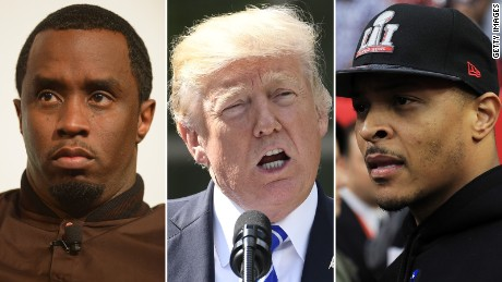 Hip-hop stars slam Trump amid anthem firestorm