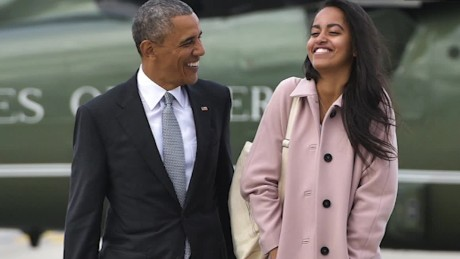 Obama cries seeing Malia off to college