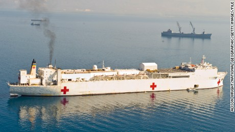 HAITI - FEBRUARY 06:  The USS Comfort medical ship after the January 12, 2010 earthquake. Port au Prince, Haiti.  (Photo by Alison Wright/National Geographic/Getty Images)