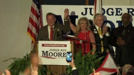 Roy Moore beats out candidate Trump supported