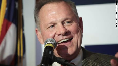 MONTGOMERY, AL - SEPTEMBER 26:  Republican candidate for the U.S. Senate in Alabama, Roy Moore (R) speaks to supporters at an election-night rally on September 26, 2017 in Montgomery, Alabama. Moore, former chief justice of the Alabama supreme court, defeated incumbent Sen. Luther Strange (R-AL) in a primary runoff election for the seat vacated when Jeff Sessions was appointed U.S. Attorney General by President Donald Trump. Moore will now face Democratic candidate Doug Jones in the general election in December.  (Photo by Scott Olson/Getty Images)