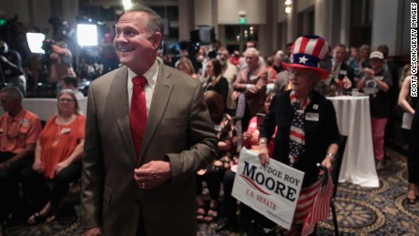 Roy Moore is using Trump's playbook -- and Trump is helping him out