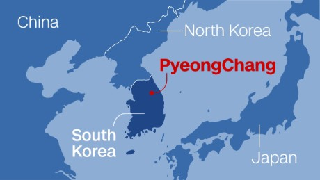 Pyeonchang's coastal location on the western side of the Korean Peninsula and near the Sea of Japan