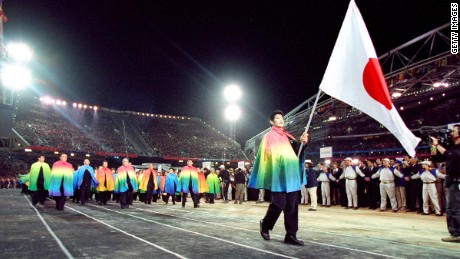 Inoue was the proud carrier of the Japanese flag at the opening ceremony of Sydney 2000.