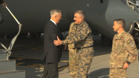 US Secretary of Defense James Mattis touches down in Kabul, Afghanistan for a visit, Wednesday, 27 September.