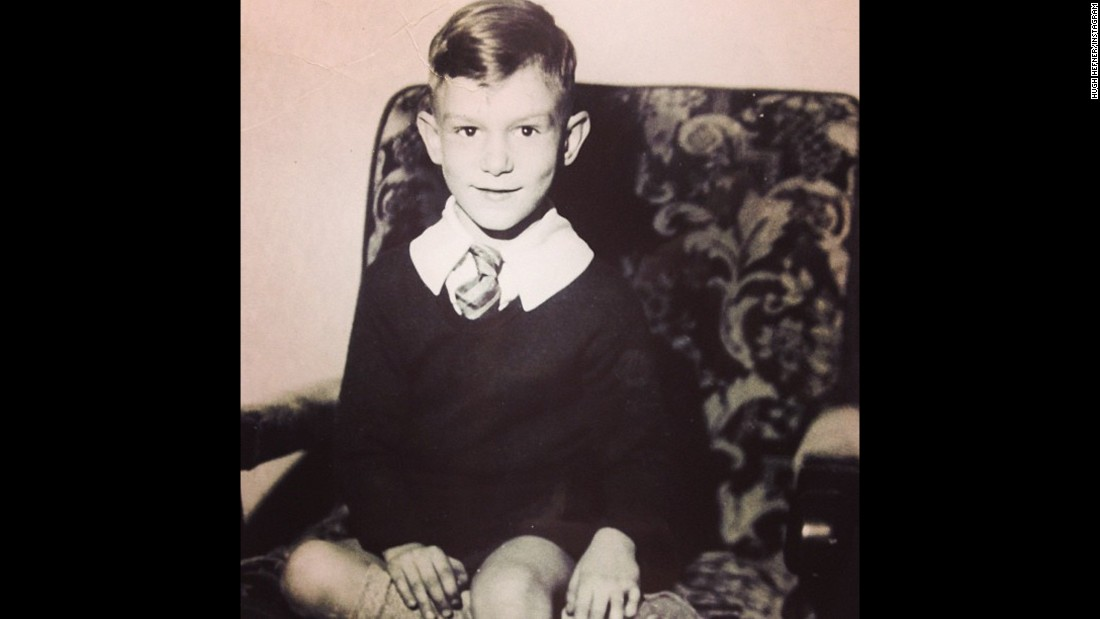 Another early photo of Hefner shared on his Instagram shows him in 1933.