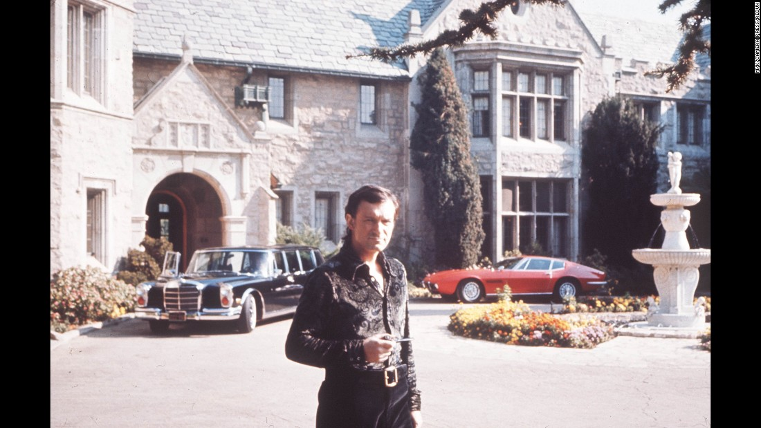 Hefner founded Playboy in 1953, growing it into a multibillion dollar empire. He bought the building that would become Playboy Mansion in the 1970s.