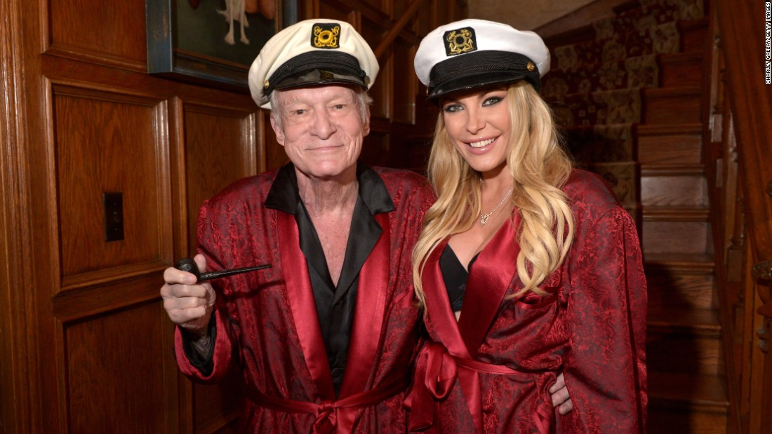 Hugh and Crystal Hefner attend Playboy Mansion's Annual Halloween Bash at The Playboy Mansion on October 25, 2014 in Los Angeles.