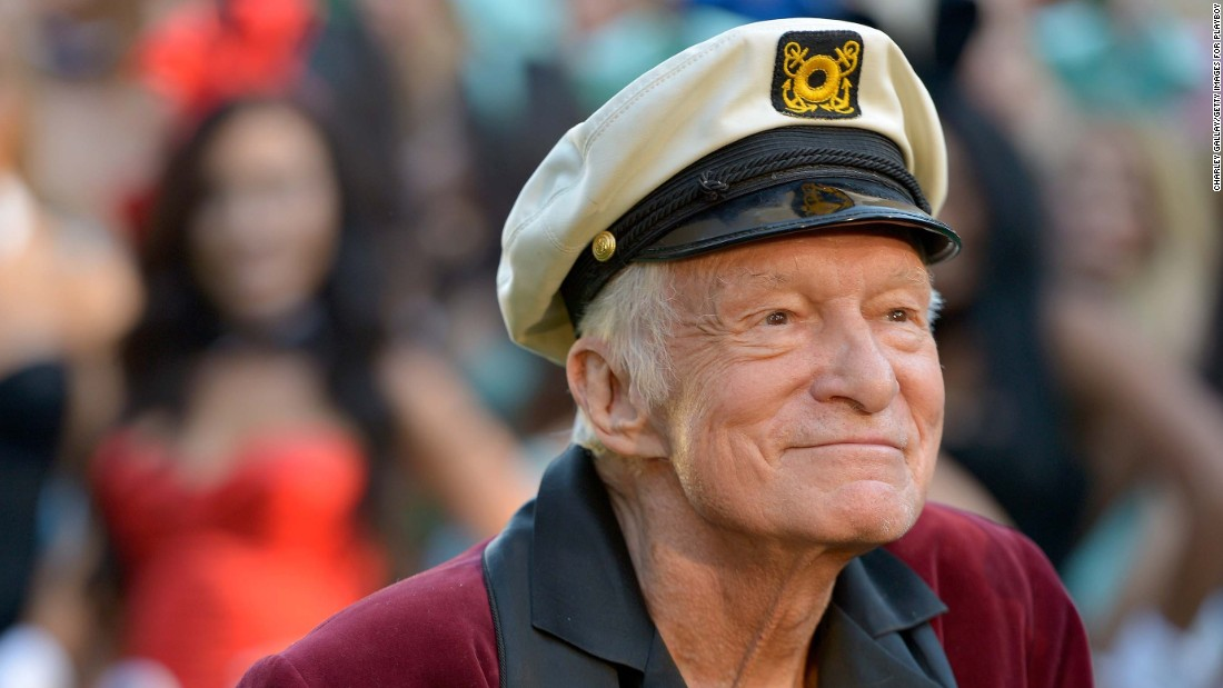 Playboy founder Hugh Hefner died on September 27, 2017. He was 91.