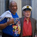 Hugh Hefner Bill Cosby FILE RESTRICTED