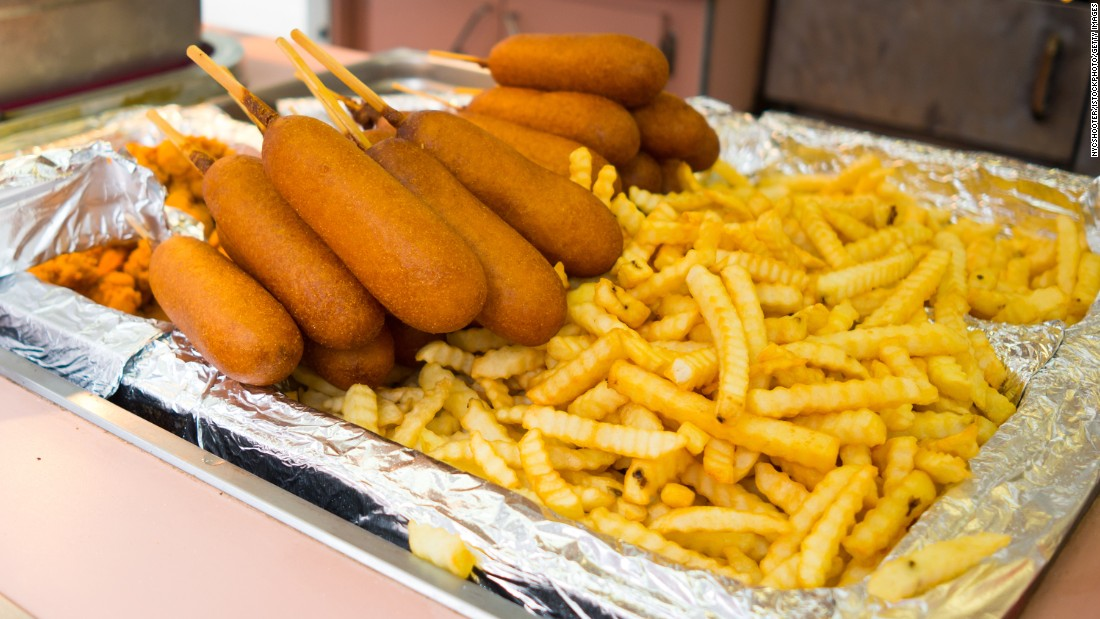 <strong>Corn dogs: </strong>Geary himself created the corn dog for Disneyland in the 1980s.