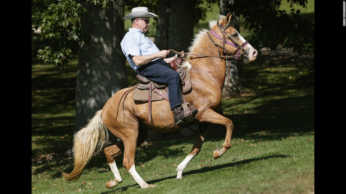 "Former Alabama chief justice and US Senate candidate Roy Moore rides in on a horse to vote at the Gallant Volunteer Fire Department during the Alabama Senate race in Gallant, Alabama, on Tuesday, September 26. <a href=""http://www.cnn.com/2017/09/26/politics/alabama-senate-results-roy-moore-luther-strange/index.html"" target=""_blank"">Moore ousted Sen. Luther Strange on Tuesday night</a>, and his win is sending shock waves through the GOP establishment -- including at the White House, where President Donald Trump had poured his own political capital into helping Strange survive."