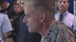 The powerful message the Air Force Academy's superintendent wanted to send loud and clear