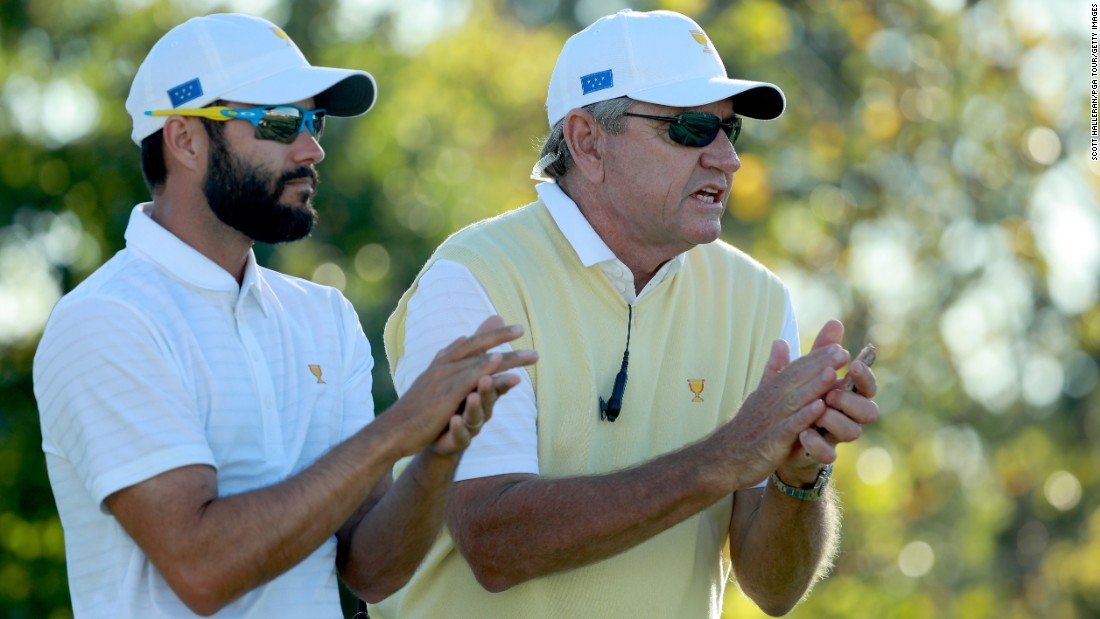 It was not a great opening day for International Team captain Nick Price and his assistant Adam Hadwin as the US took a 3.5-1.5 lead on day one.