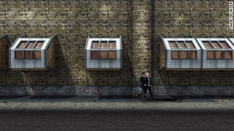 Homeless shelter rendering by James Furzer