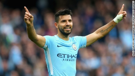 Argentine soccer star Sergio Aguero joined Manchester City in 2011.