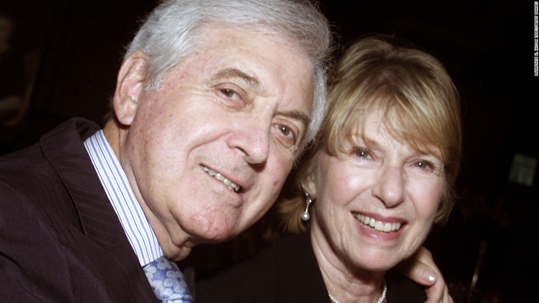 Monty and his wife Marilyn Hall attend attend the 90th birthday party for the Jewish Home for the Aging on March 26, 2002.  The home first opened its doors in 1912 on the first day of Passover.