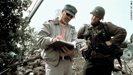 Steven Spielberg, Tom Hanks on the set of 'Saving Private Ryan'