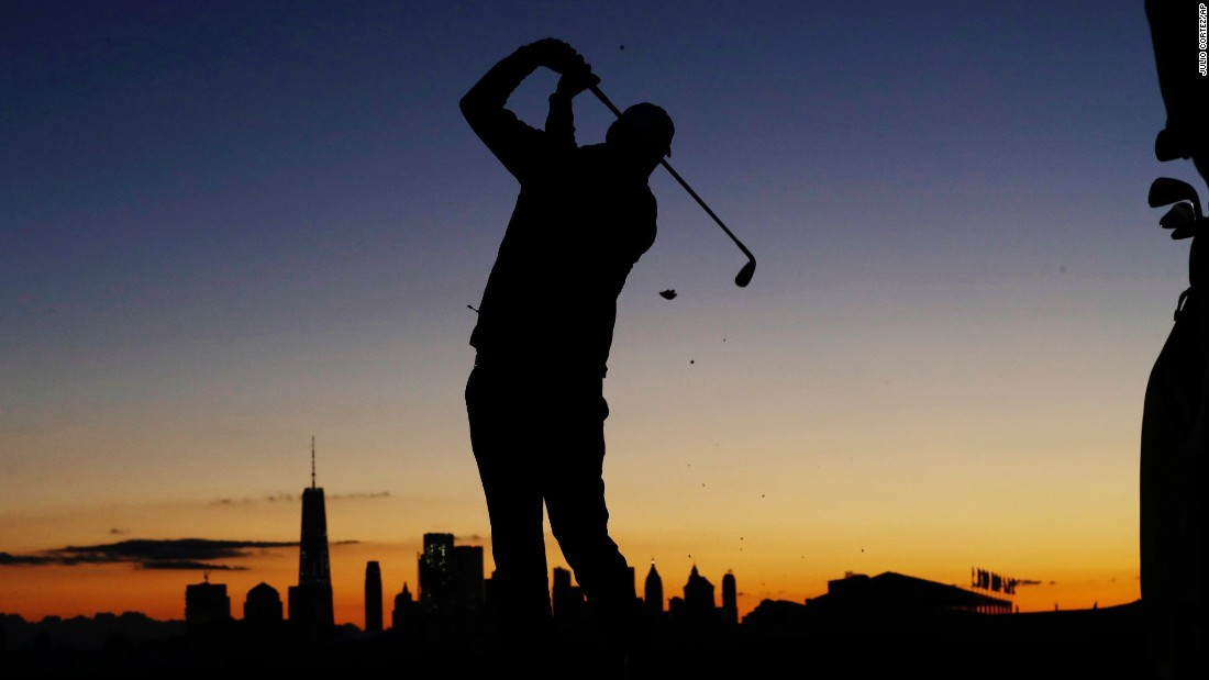 "Australian Marc Leishman practices on the driving range before the start of Presidents Cup play on Saturday, September 30. The competition this year was held at Liberty National Golf Club, which has picturesque views of the New York City skyline. <a href=""http://www.cnn.com/2017/09/25/sport/gallery/what-a-shot-sports-0925/index.html"" target=""_blank"">See 30 amazing sports photos from last week</a>"