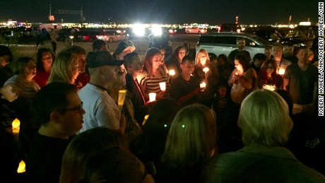 A vigil was held on the corner of Sahara and Las Vegas Blvd in Las Vegas, in honor of the victims of the shooting.