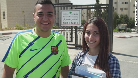 Mohammed Harhash, 19, and  Maha Abouhamdeh, 18, are feeling optimistic about the potential for Palestinian reunification.