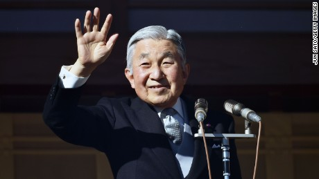 TOKYO, JAPAN - DECEMBER 23:  Emperor Akihito Of Japan greets the public at the Imperial Palace on December 23, 2014 in Tokyo, Japan. Emperor Akihito of Japan turned 81 on December 23, 2014.  (Photo by Jun Sato/Getty Images)