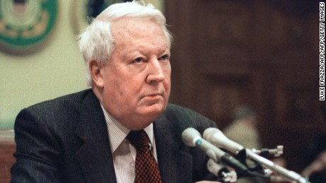 The late British Prime Minister Edward Heath, pictured in 1990.
