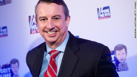WASHINGTON - JANUARY 08: Ed Gillespie, former chairman of the Republican National Committee and current counselor to the President, poses on the red carpet upon arrival at a salute to FOX News Channel's Brit Hume on January 8, 2009 in Washington, DC.