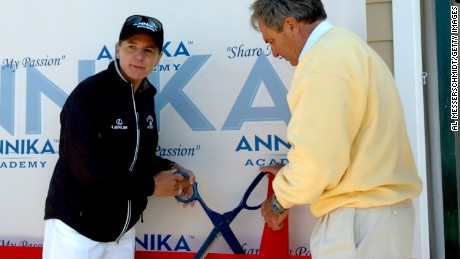 Opening of Annika Academy in Florida in 2006.