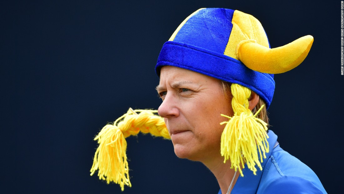 Sorenstam captained Team Europe in the Solheim Cup, though Team USA won 16.5 to 11.5.