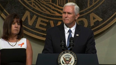 Pence honors Las Vegas victims and responders