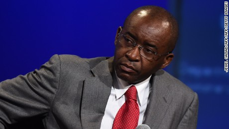 Strive Masiyiwa, Founder and Chairman, Econet Wireless speaks on August 5, 2014, at the US-Africa Leaders Summit in Washington, DC.