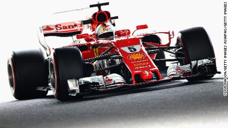 SUZUKA, JAPAN - OCTOBER 06: Sebastian Vettel of Germany driving the (5) Scuderia Ferrari SF70H on track during practice for the Formula One Grand Prix of Japan at Suzuka Circuit on October 6, 2017 in Suzuka.  (Photo by Clive Mason/Getty Images)