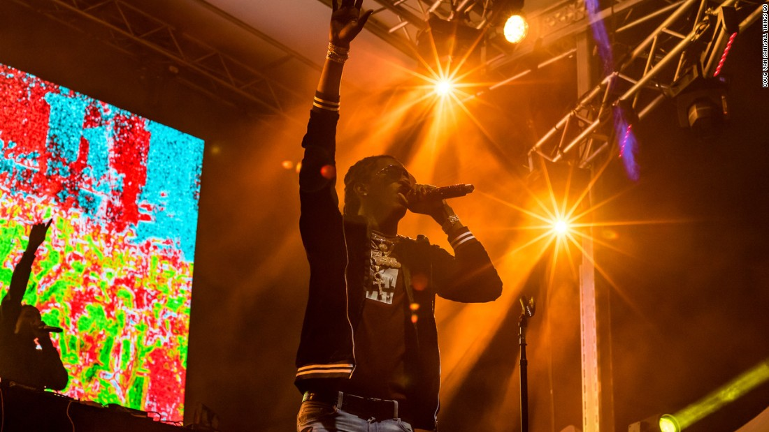 Atlanta rapper Young Thug headlines the second night of the festival.