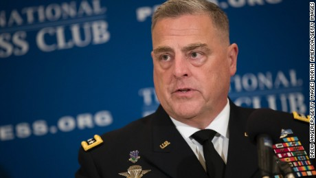 General Mark Milley Chief of Staff of the U.S. Army speaks at the National Press Club