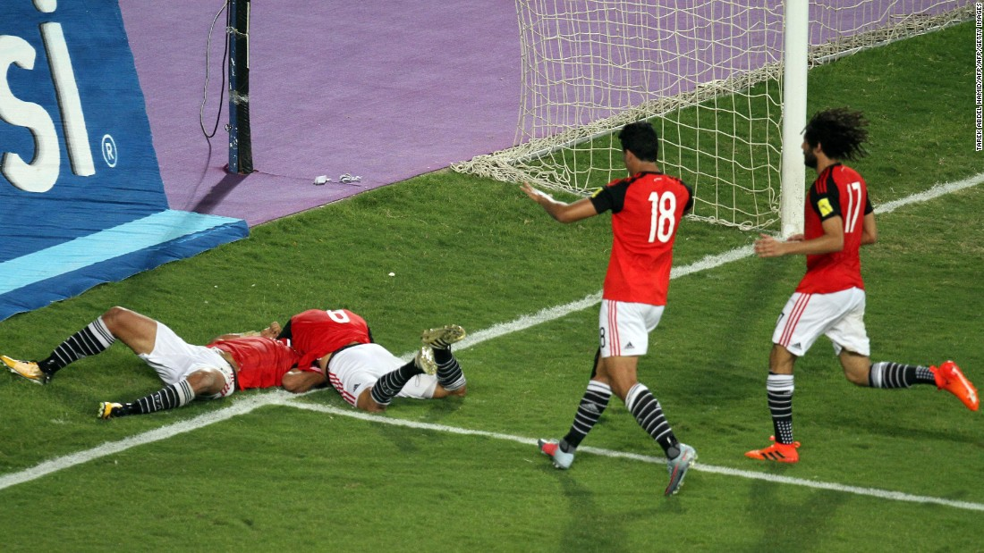 "The Pharaohs qualified for Russia 2018 <a href=""http://edition.cnn.com/2017/10/09/football/egypt-world-cup-el-hadary-hector-cuper-congo/index.html"">with a game to spare</a>, topping Group E ahead of Ghana, Congo and Uganda to reach the World Cup for the first time since 1990."